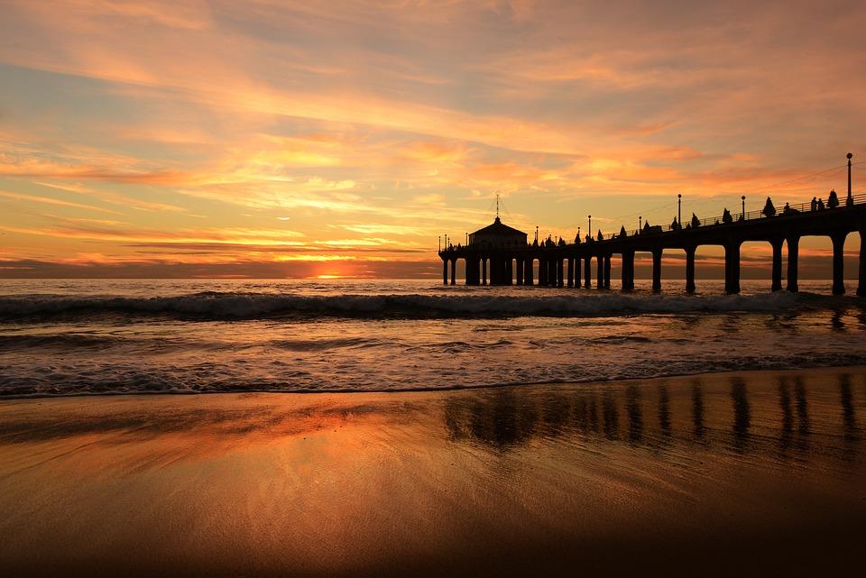Beach, Sunset, Boardwalk, Sand, Sandy Beach, Shore
