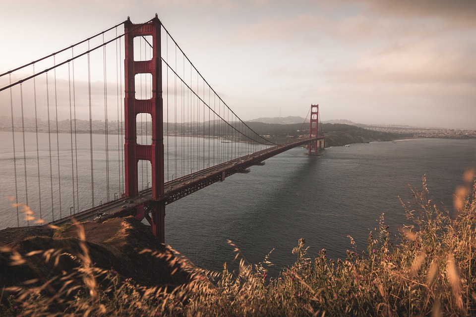 Goldengatebridge, Landscape, Sanfrancisco, Sunset