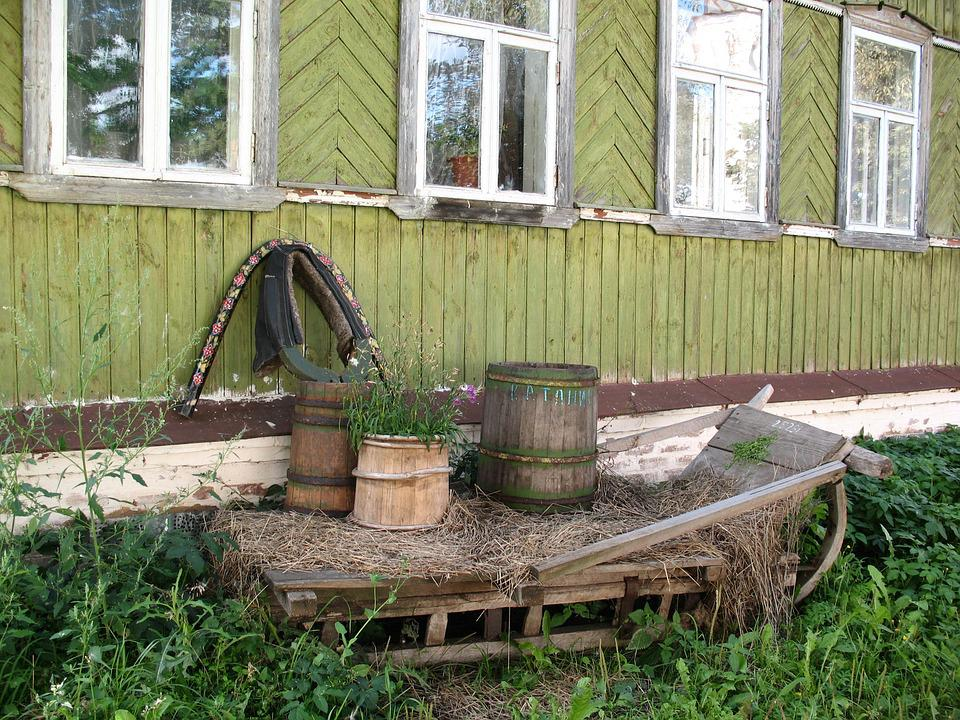 House, Village, Wall, Russia, Sani, Suzdal