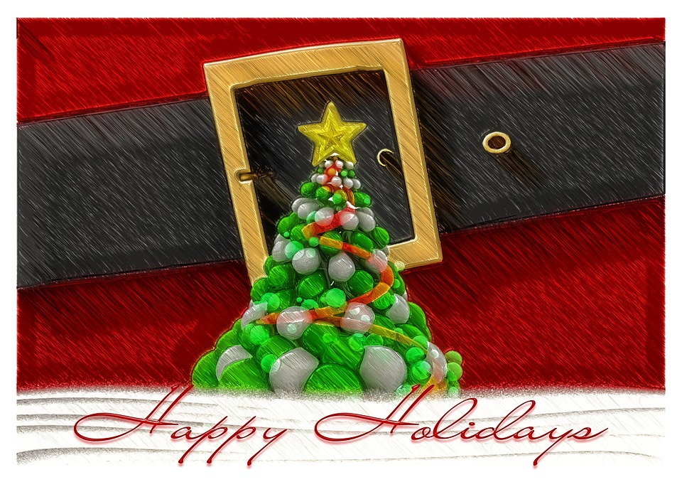 Red, White, Santa Claus, Nicholas, Belts, Belt Buckle
