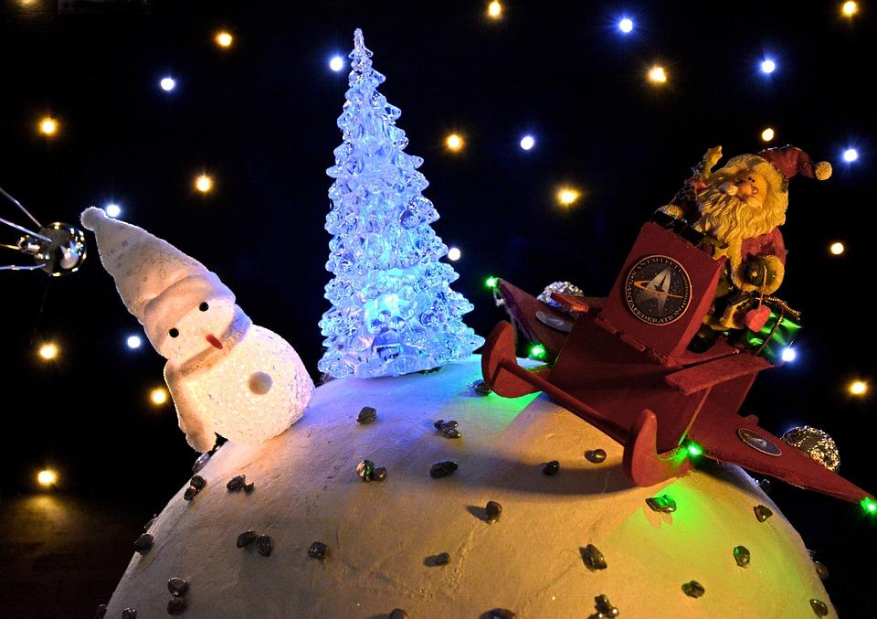 Christmas Scene, Santa, Santa Claus, Nicholas, Slide