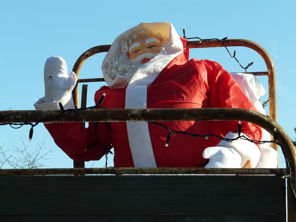 Christmas, Santa Claus, Wave, Gloves, Cap, Dolls