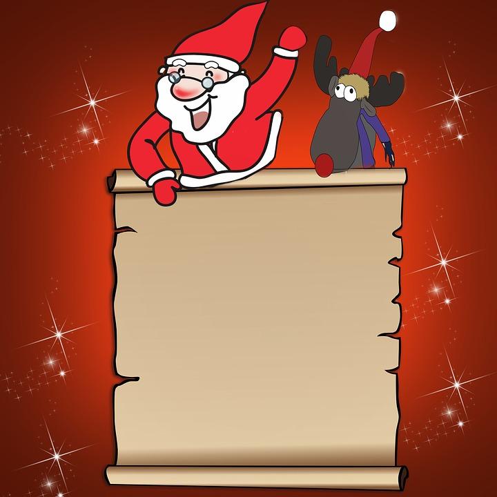 Wish List, Santa Claus, Reindeer, Christmas, Give