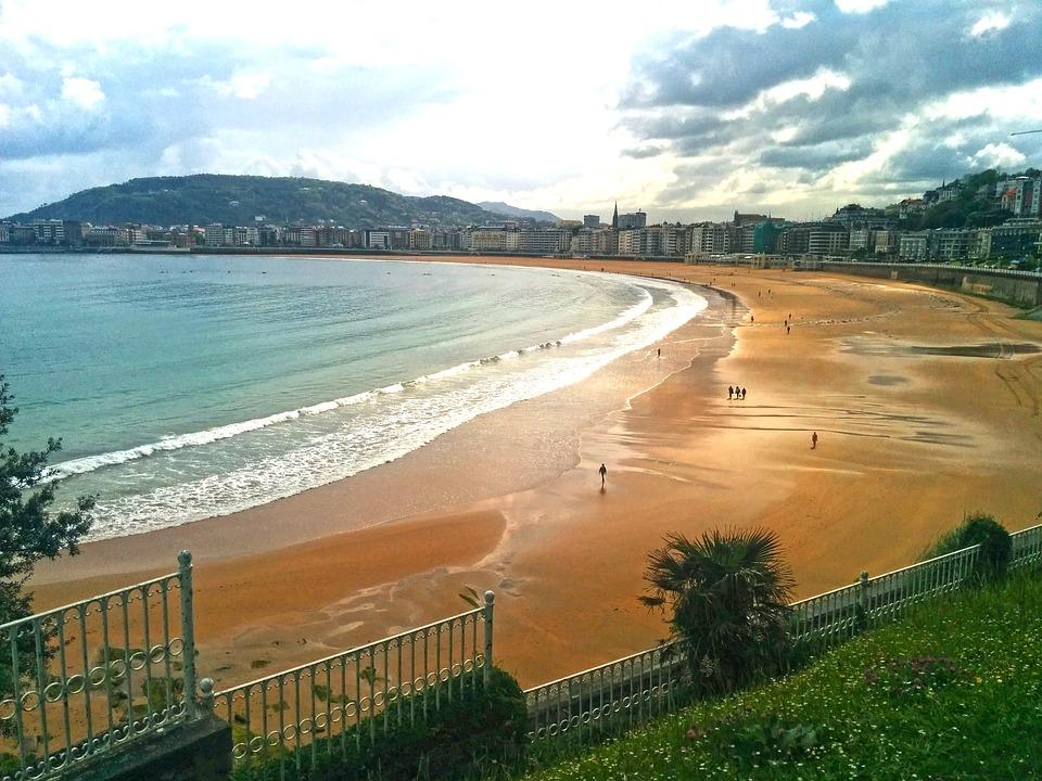 Playa El Sardinero, Santander, Sea, Landscape, Beach