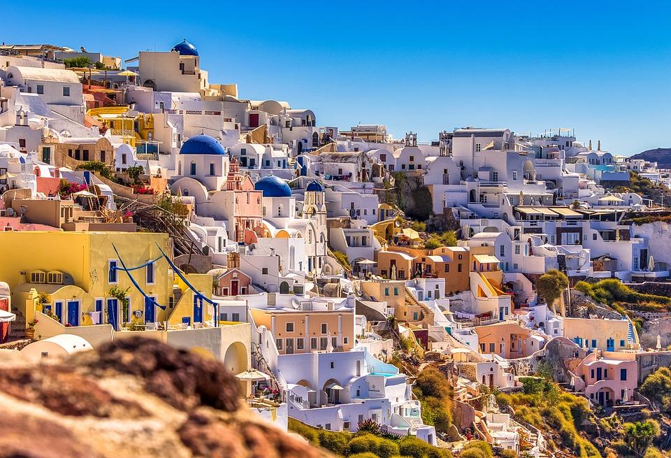 Santorini, Ia, Greece, Island, White, Architecture