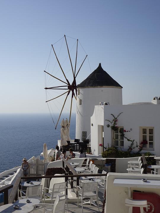 Windmill, Santorini, Cyclades