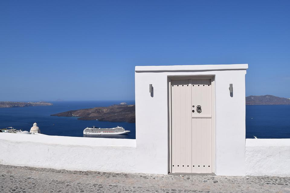 Santorini, Greece, Door