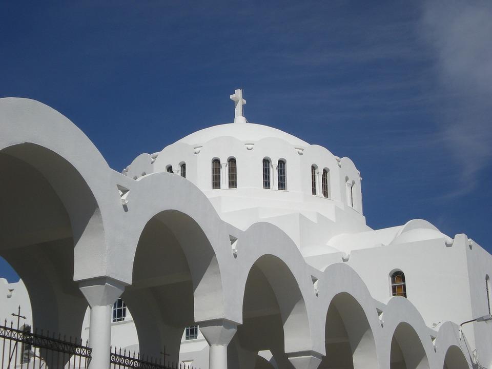 Santorini, Fira, Greek Island, Greece, Church