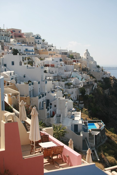 Greece, Santorini, Cyclades, Landscapes