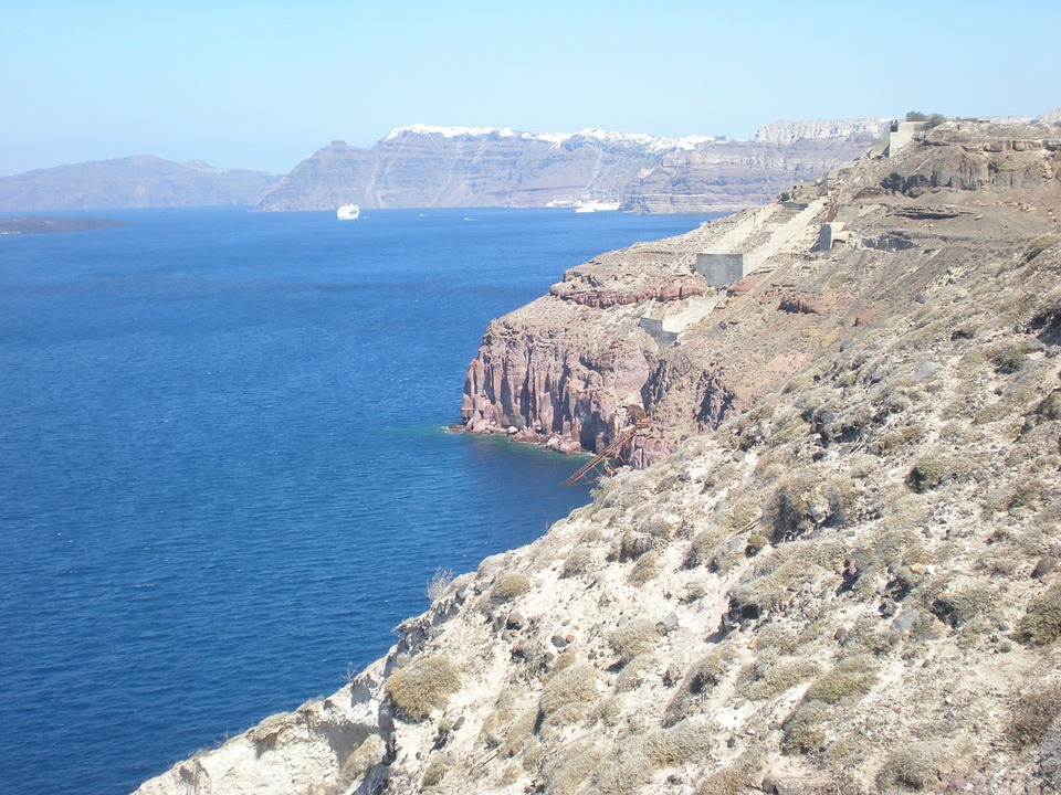 Santorini, Greek Island, Greece, Marine, Caldera