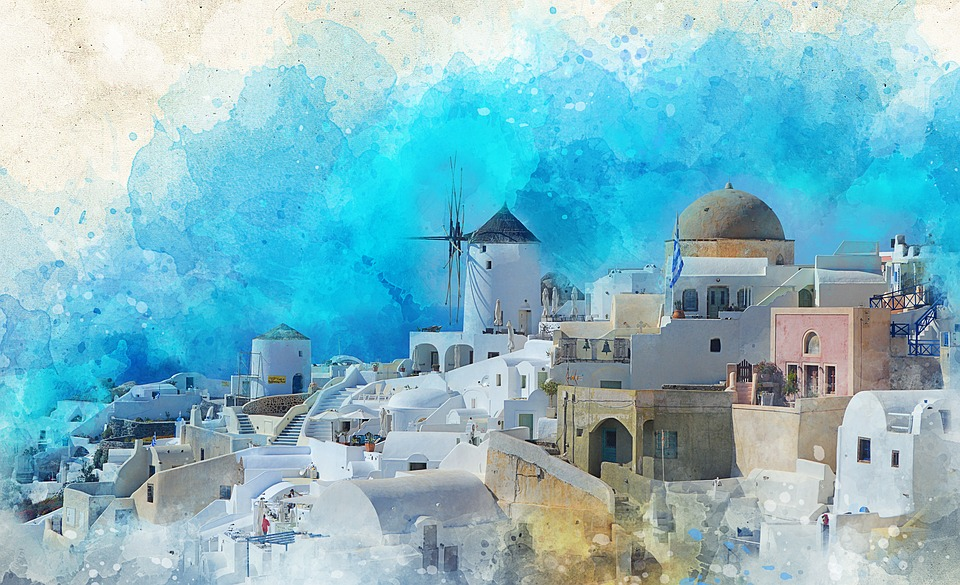 Santorini, Island, Greece, Sea, Tourism, Travel