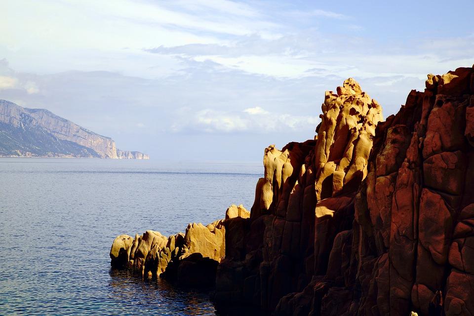Arbatax, Sardinia, Italy, Beach, Sea, Rock, Nature