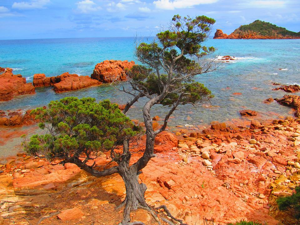 Sardinia, Su Sirboni, Sea, Wild, Nature, Red, Rock