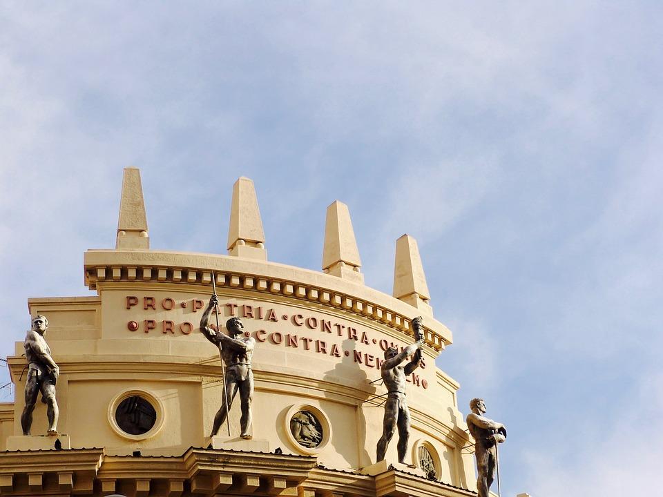 Facade, Sculpture, Roof, Sardinia, Italy, Statue