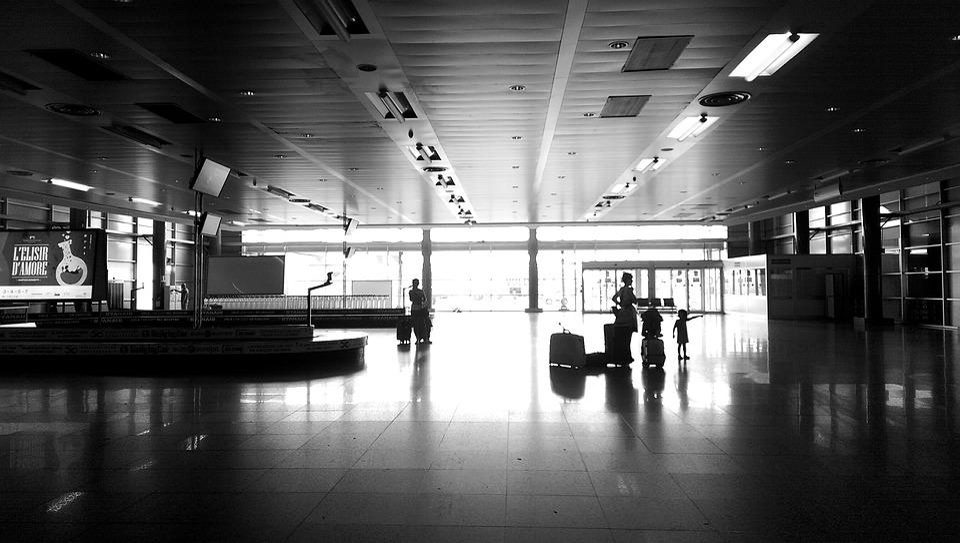 Airport, White Black, Sardinia, Cagliari