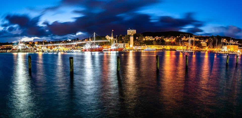 Port, Baltic Sea, Sassnitz, Rügen, Lights, Water