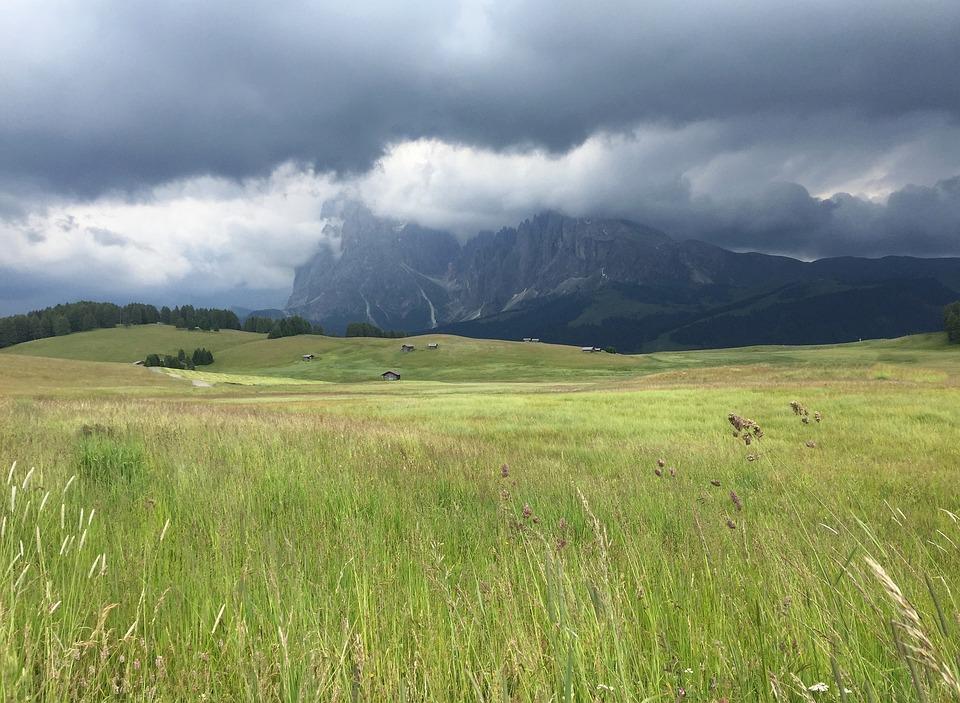 Alpe Di Siusi, Dolomites, Sassopiatto, Sassolungo