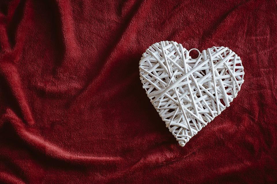 Textile, Textile Fabric, Love, Satin, Symbol, Heart