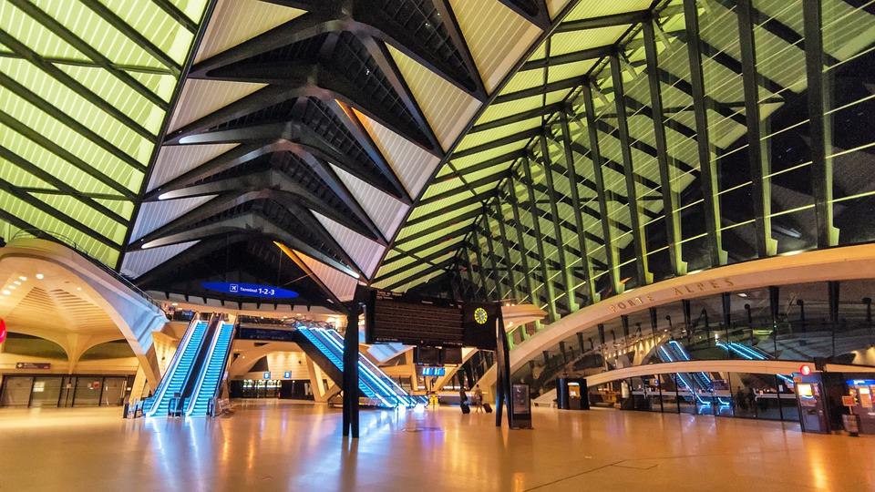 Satolas, Airport, Lyon, Calatrava, France, Architecture
