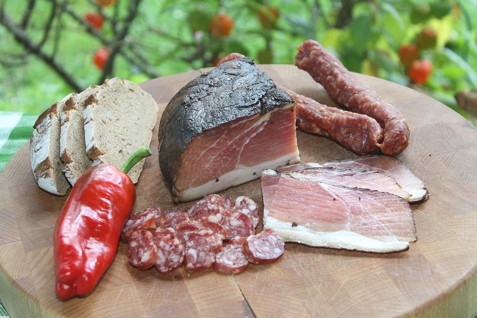 Meat, Sausage, Food, Pork