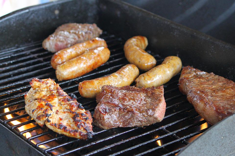 Meat, Grill, Party, Steak, Sausage, Chicken, Bar-b-cue