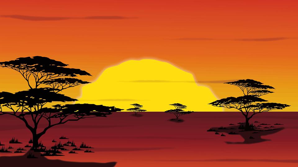 Africa, Digital Art, Landscape, Nature, Savannah