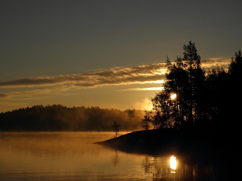 Finnish, Savonlinna, Saimaa, Sky, Water, Nature