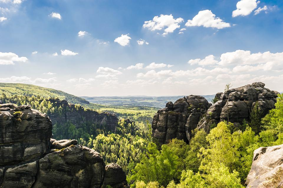 Rock, Saxon Switzerland, Mountains, Landscape