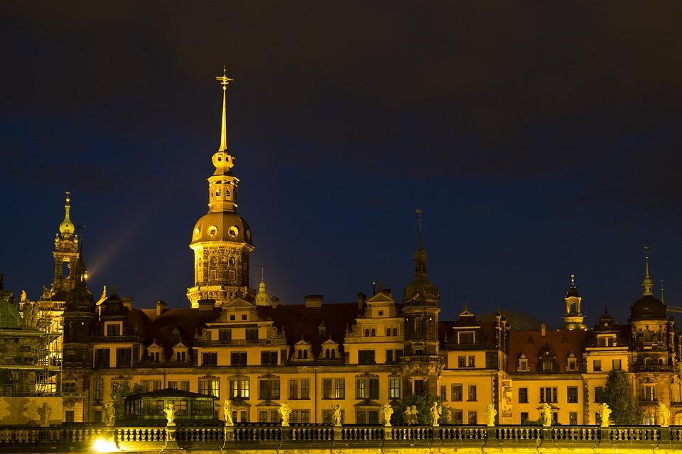 Church, Hofkirche, Dresden, Germany, Saxony, Old Town
