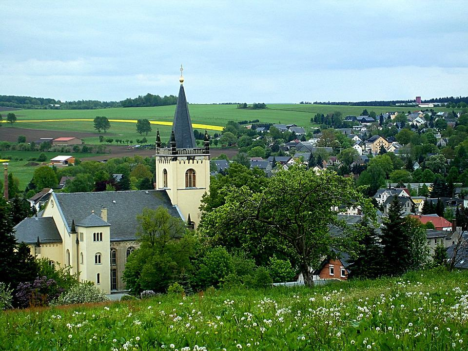Eppendorf, Saxony, View, Church, Place, Village