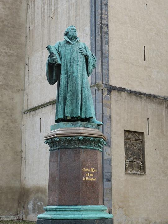 Luther, Sculpture, Fig, Magdeburg, Saxony-anhalt
