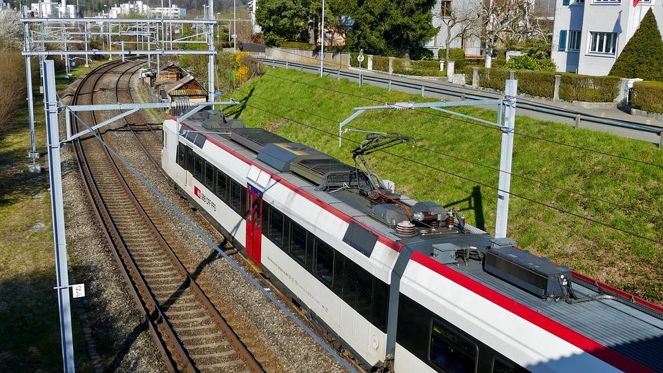 Traffic, Switzerland, Railway, Train, Sun, Sbb