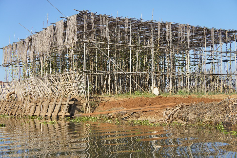 Construction, Scaffolding, Scaffold, Bamboo
