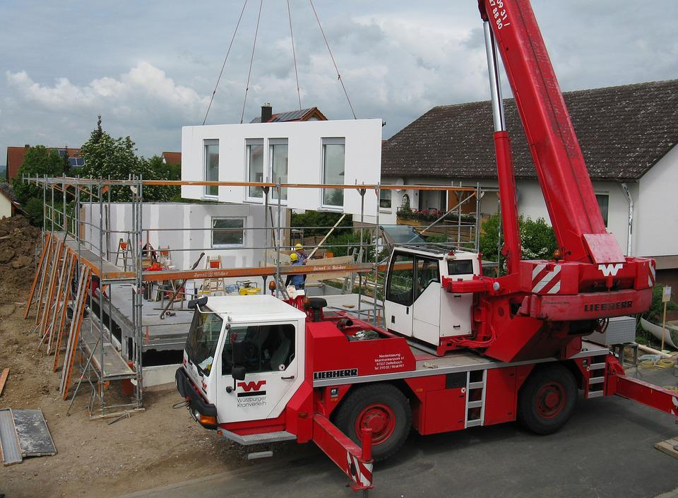Housebuilding, New Building, Site, Scaffold
