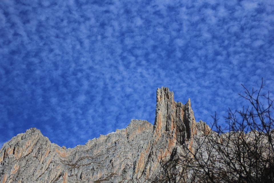 Blue Sky, Mountains And Rivers, Scale Cloud