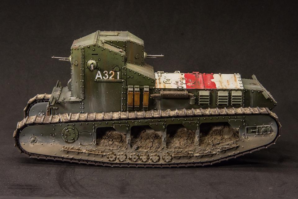 Scale Model, Tank, Ww1, Whippet, Miniature