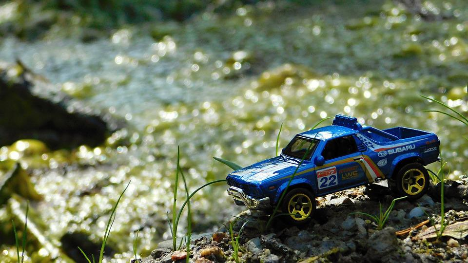 Die Cast, Hot Wheels, Scale Model, Diorama, Subaru