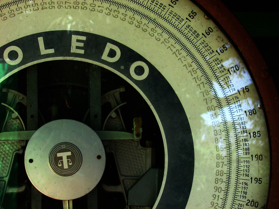 Number, Vintage, Scale, Toledo, Green, Industrial