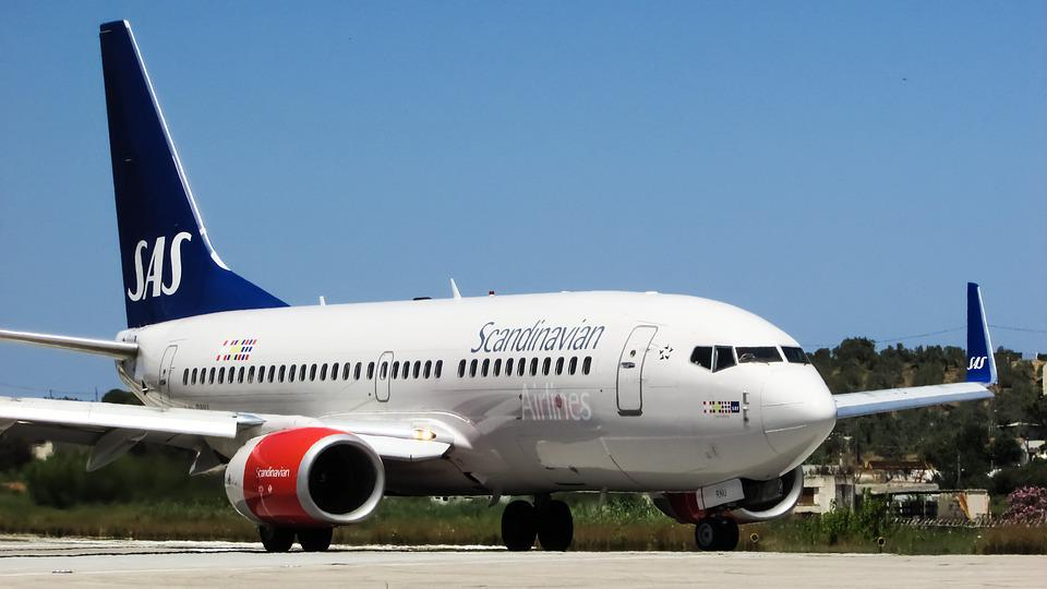 Airplane, Airport, Scandinavian, Airlines, Aircraft