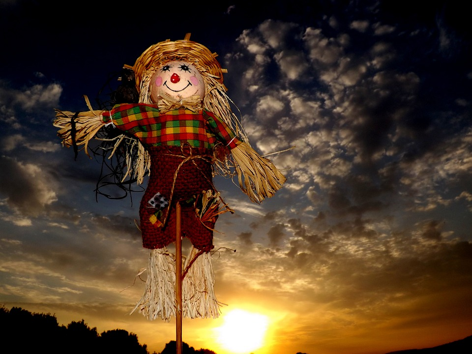 Scarecrow, East, Cloud, Sky, Straw, Red