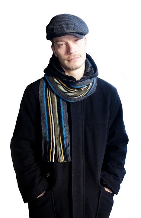 Fashion, Man, Men, Seasons, People, Hat, Scarf, Coat