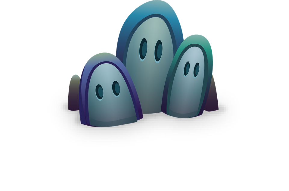 Ghosts, Eyes, Halloween, Scary, Spooky, Creepy, White