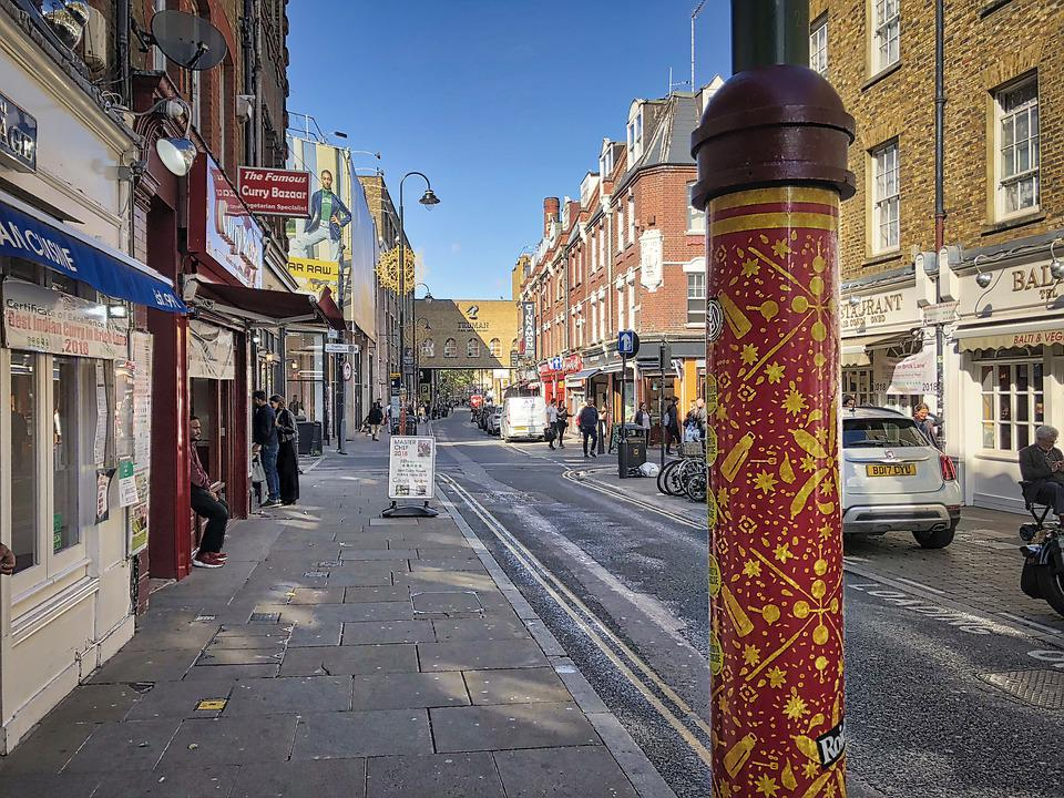 London, Road, Scene, Urban, Facades, City, England
