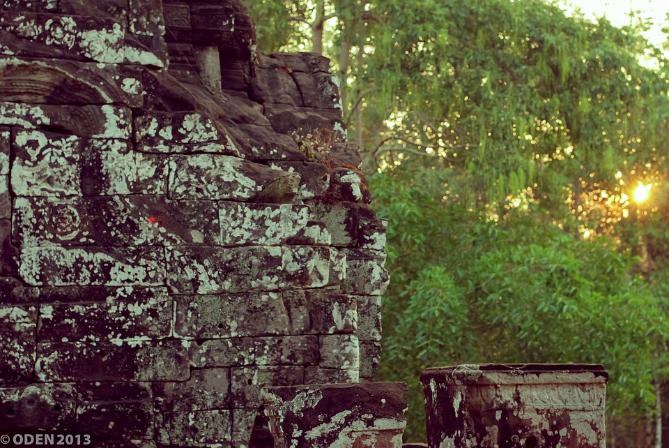 Stone, Trees, Green, Siem Reap, Angkor Thom, Scenery