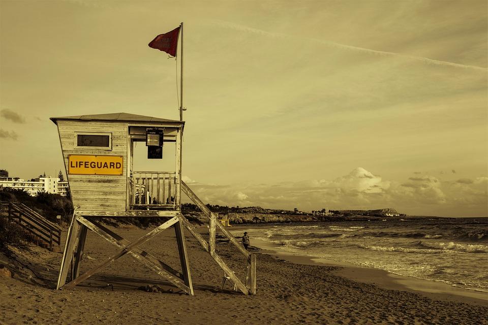 Lifeguard, Tower, Beach, Winter, Scenery, Ayia Napa
