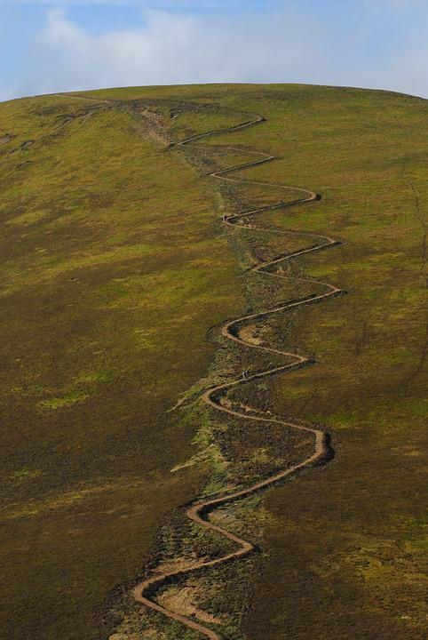 Path, Hill, Walking, Landscape, Nature, Scenery, Rural