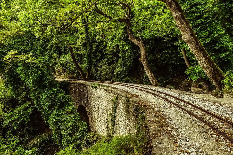Rails, Bridge, Trees, Nature, Railway, Scenery, Summer
