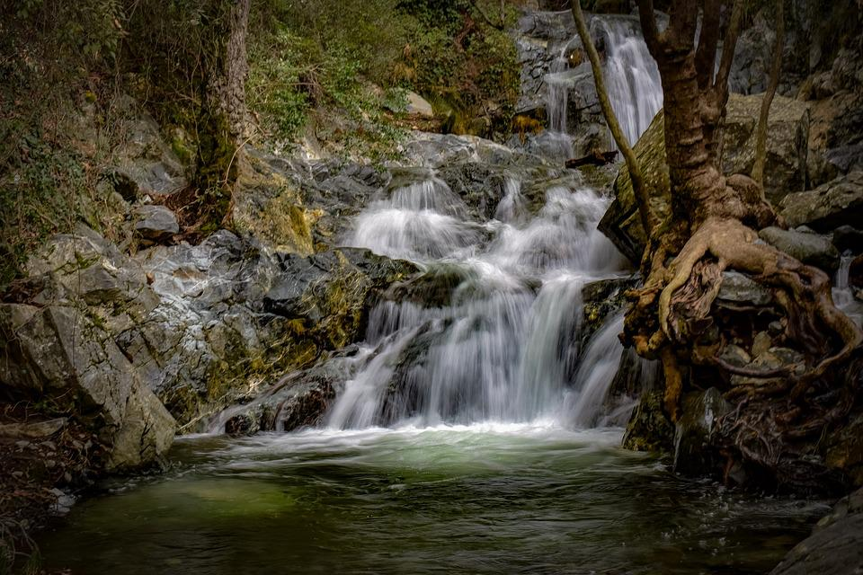 Waterfall, Water, Nature, River, Pond, Scenic, Scenery