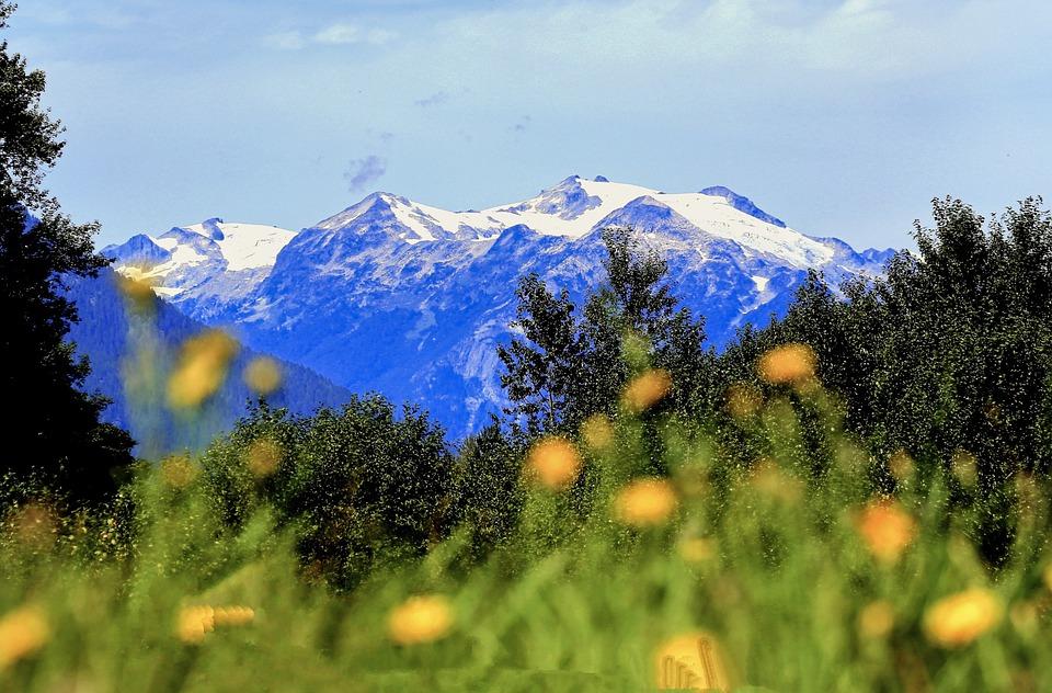 Mountains, Nature, Landscape, Scenery, Snow, Summit