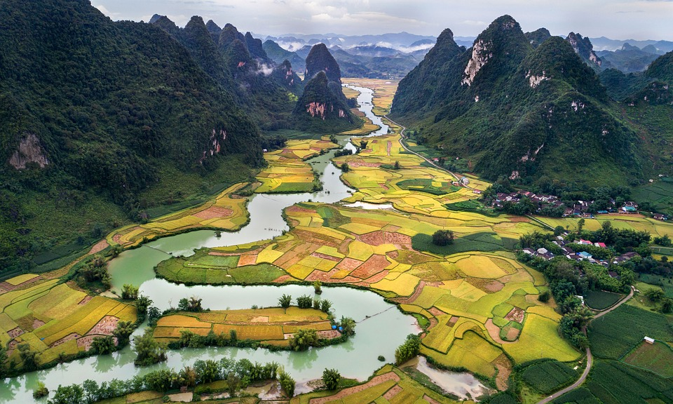 Scenery, Style Nam A Perspective, Cao Bang Vietnam